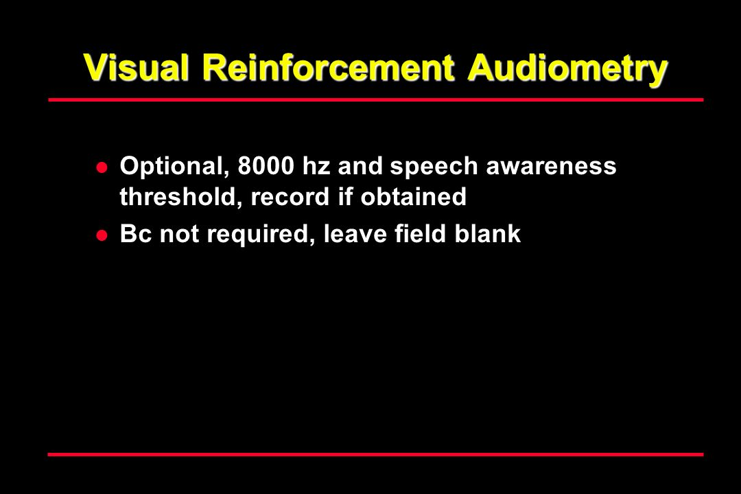 Visual Reinforcement Audiometry