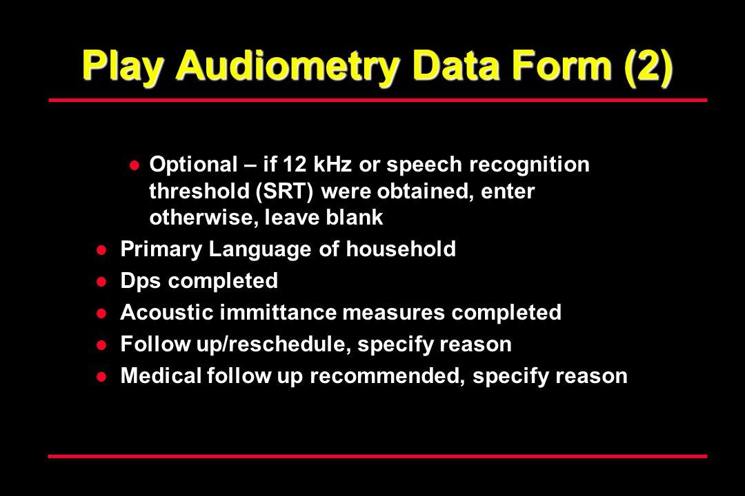 Play Audiometry Data Form (2)
