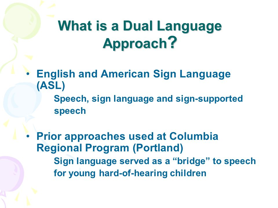 What is a Dual Language Approach