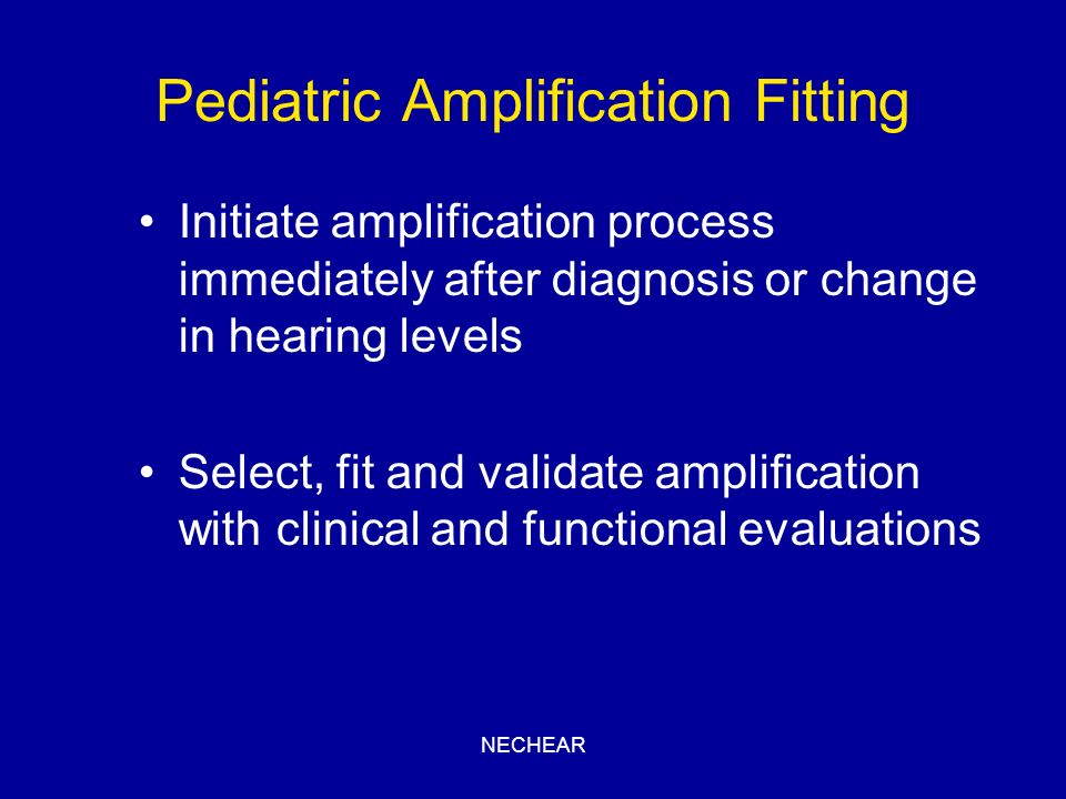 Pediatric Amplification Fitting