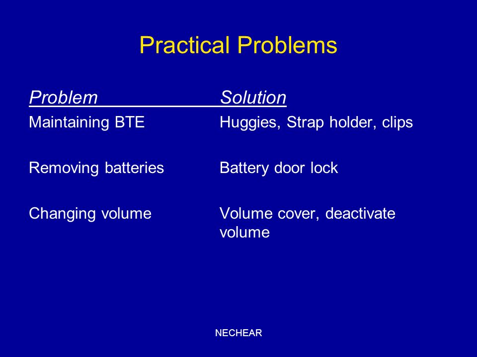 Practical Problems Problem Solution
