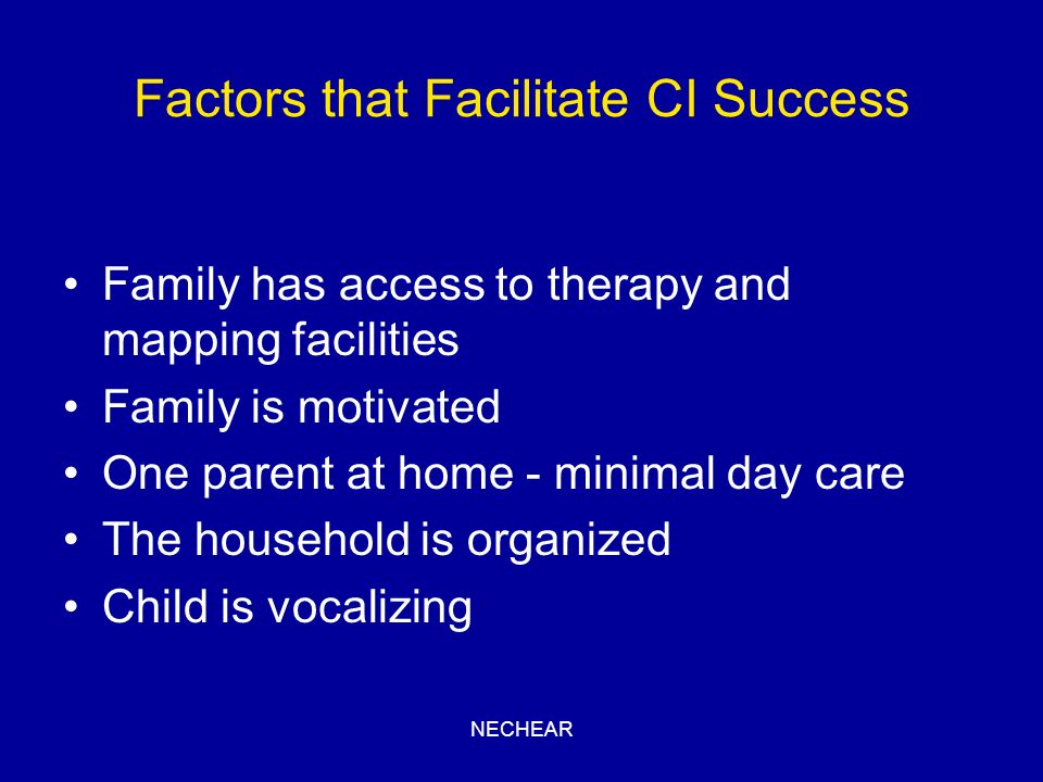 Factors that Facilitate CI Success
