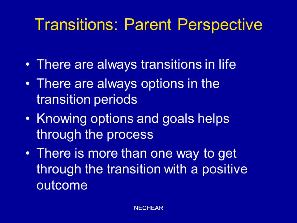 Transitions: Parent Perspective