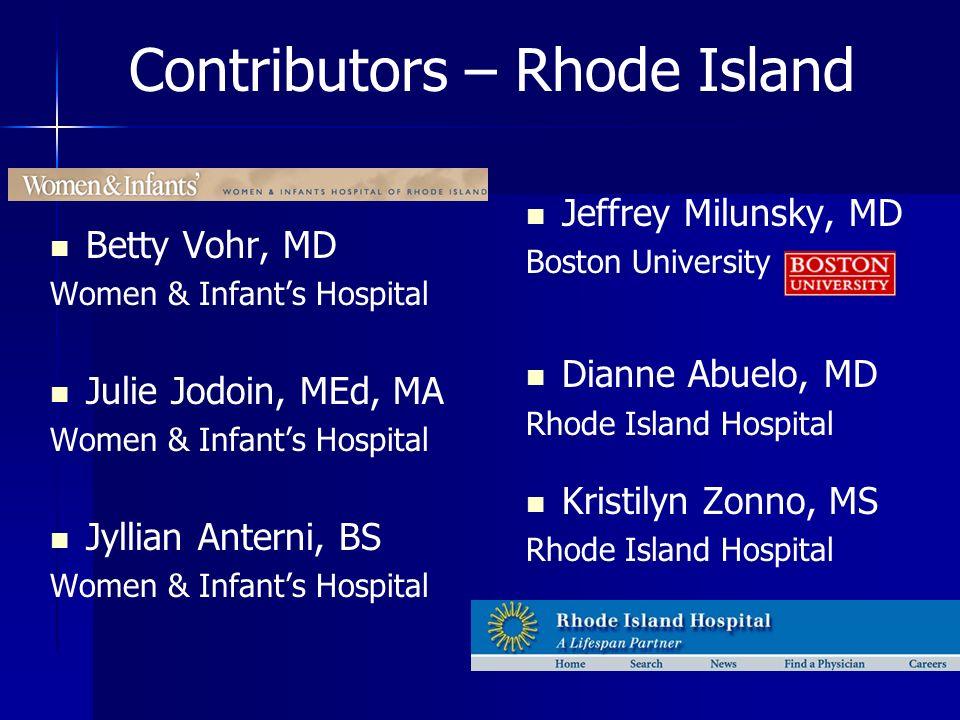 Contributors – Rhode Island