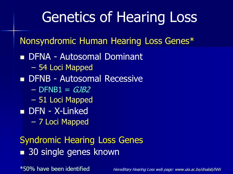 Genetics of Hearing Loss
