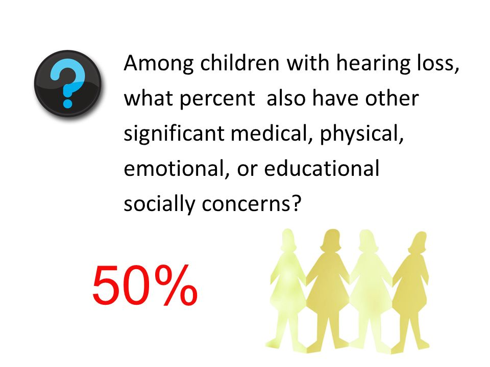 Among children with hearing loss, what percent also have other significant medical, physical, emotional, or educational socially concerns