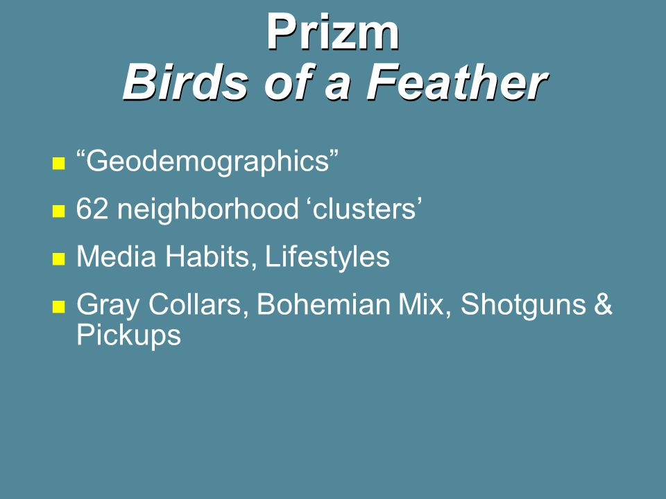 Prizm Birds of a Feather