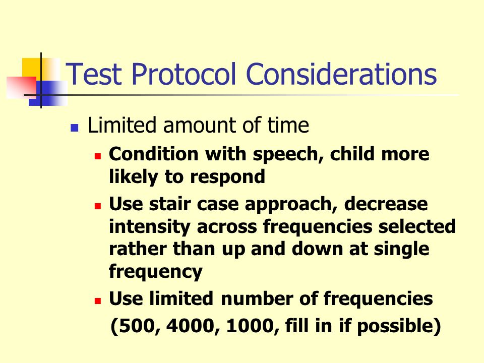 Test Protocol Considerations