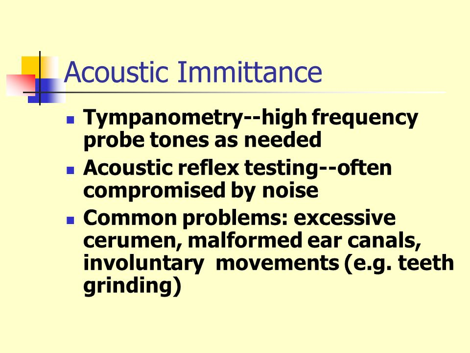 Acoustic Immittance Tympanometry--high frequency probe tones as needed