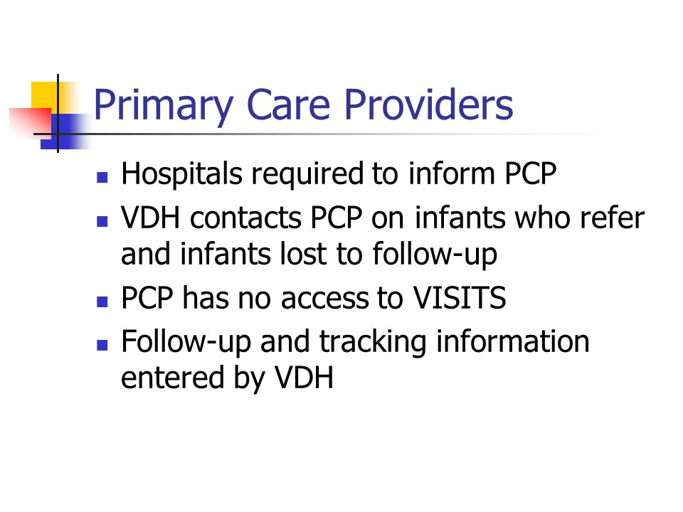 Primary Care Providers