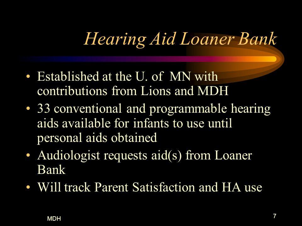 Hearing Aid Loaner Bank