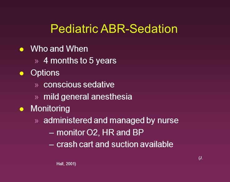 Pediatric ABR-Sedation