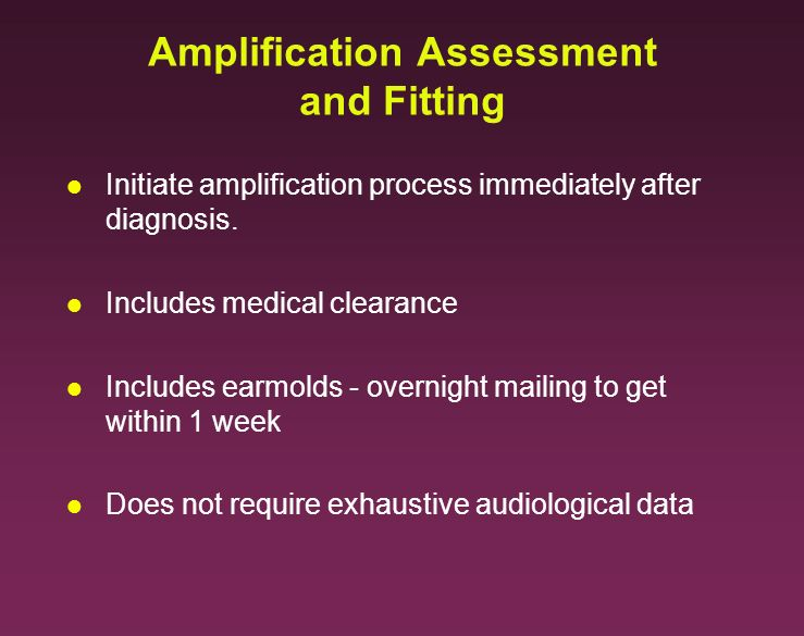 Amplification Assessment and Fitting