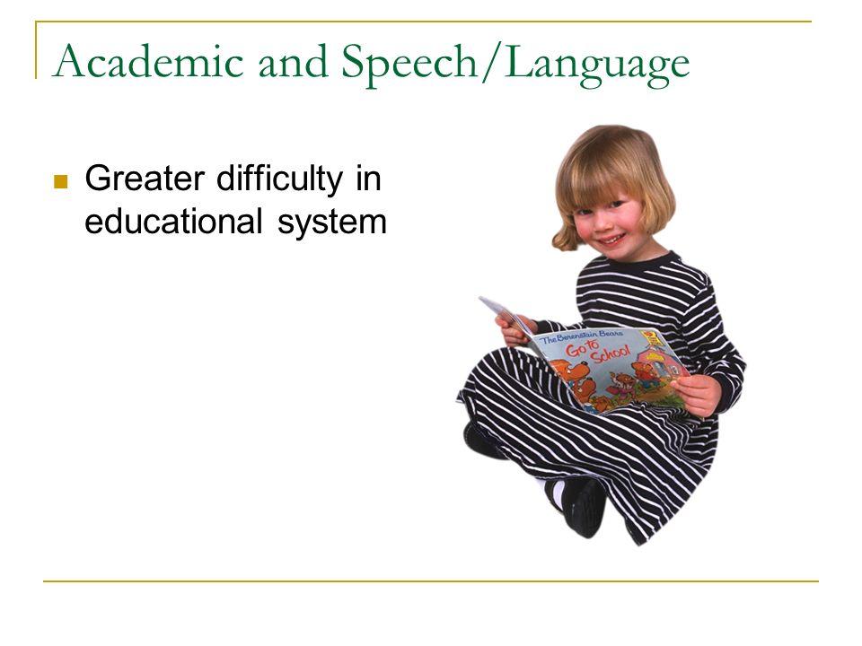 Academic and Speech/Language