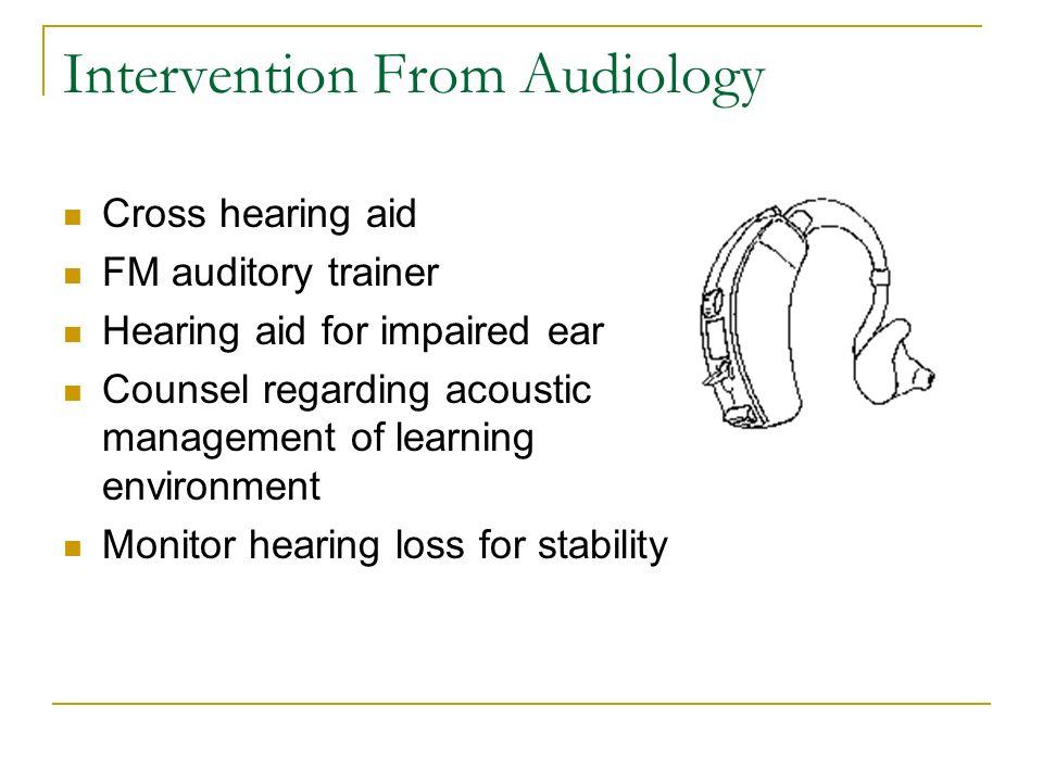 Intervention From Audiology