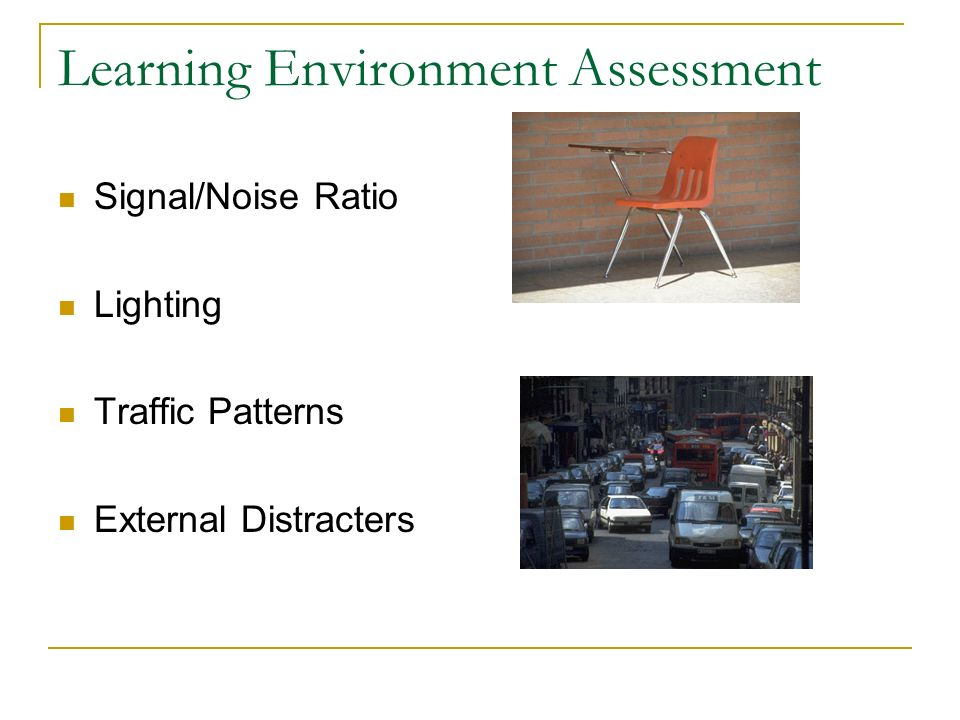 Learning Environment Assessment
