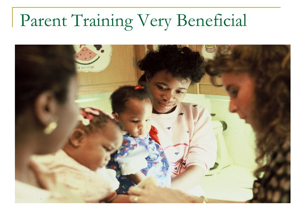 Parent Training Very Beneficial