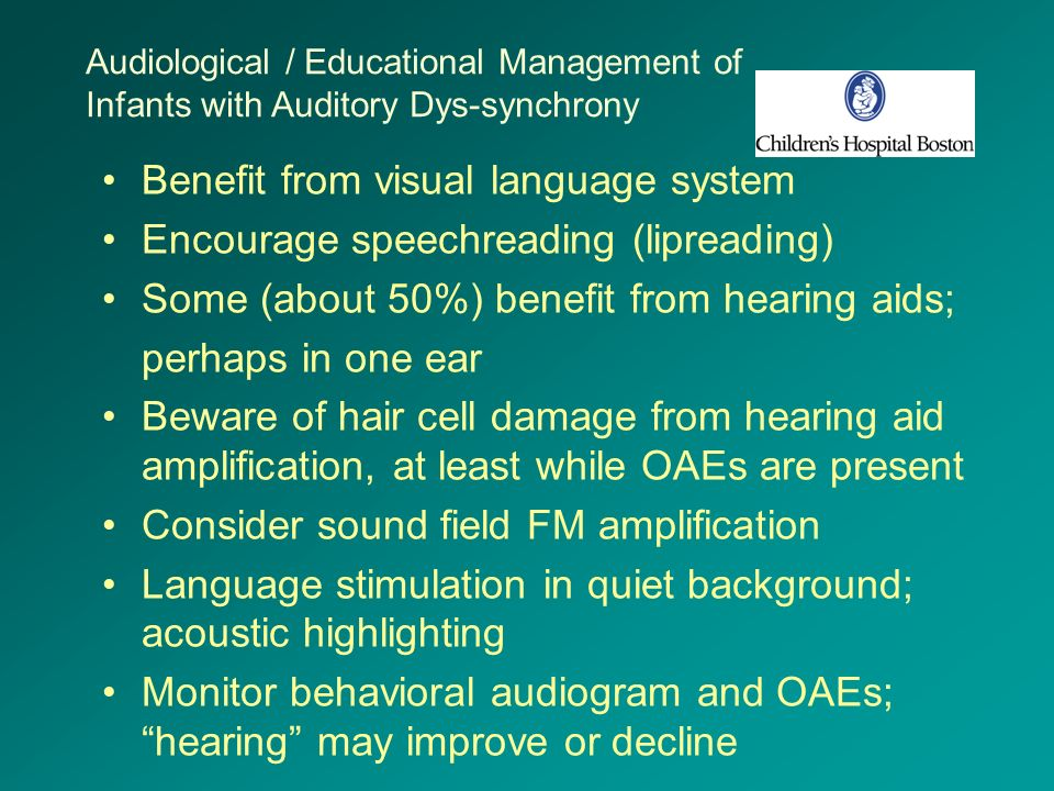 Benefit from visual language system