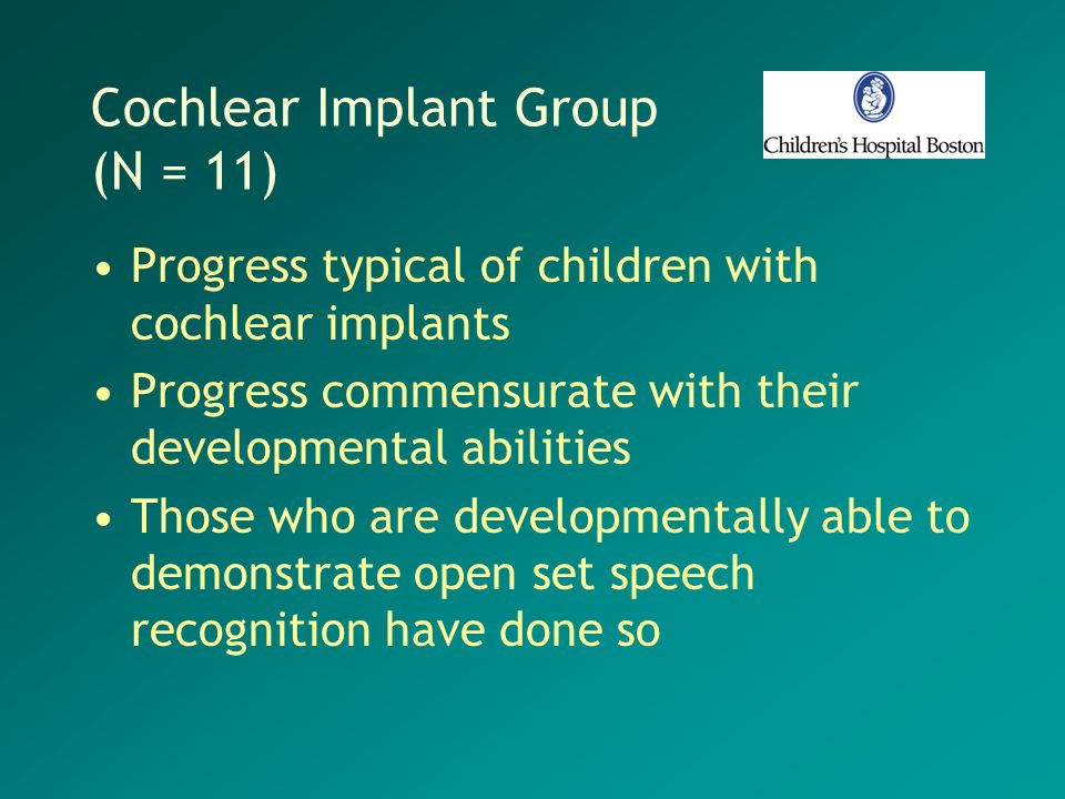Cochlear Implant Group (N = 11)