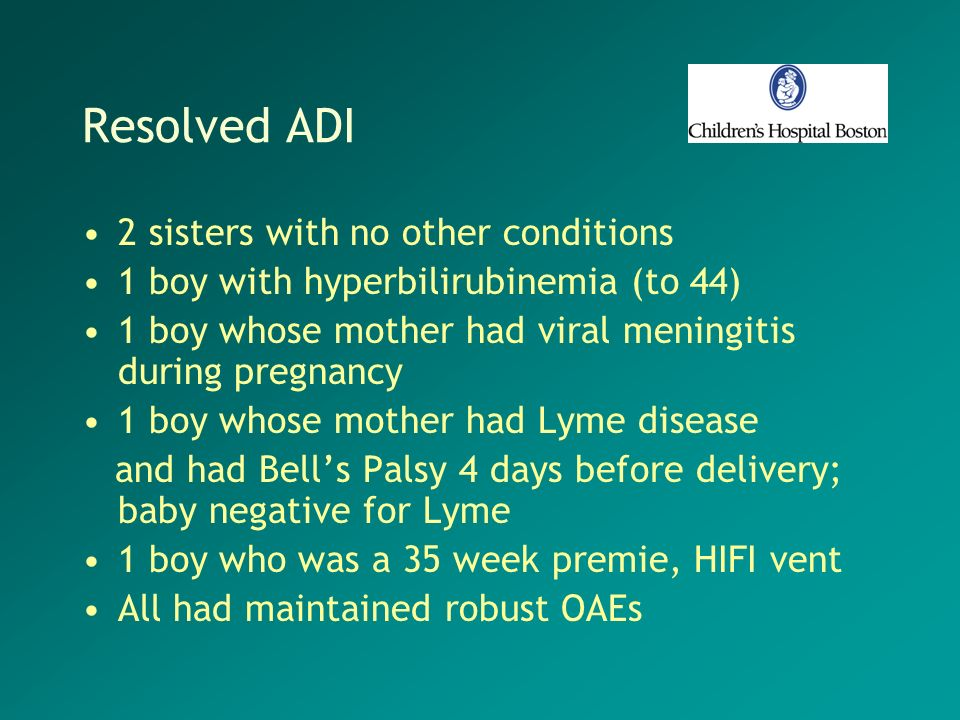 Resolved ADI 2 sisters with no other conditions