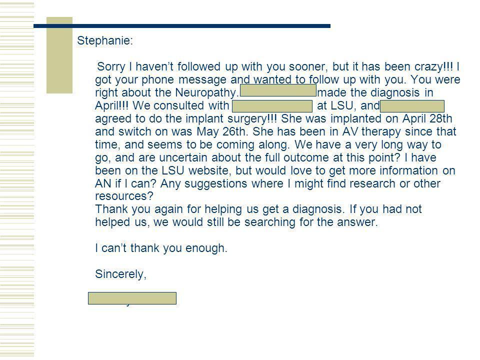 Stephanie: