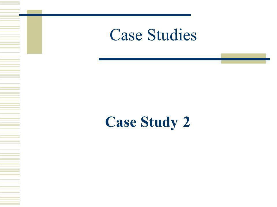 Case Studies Case Study 2