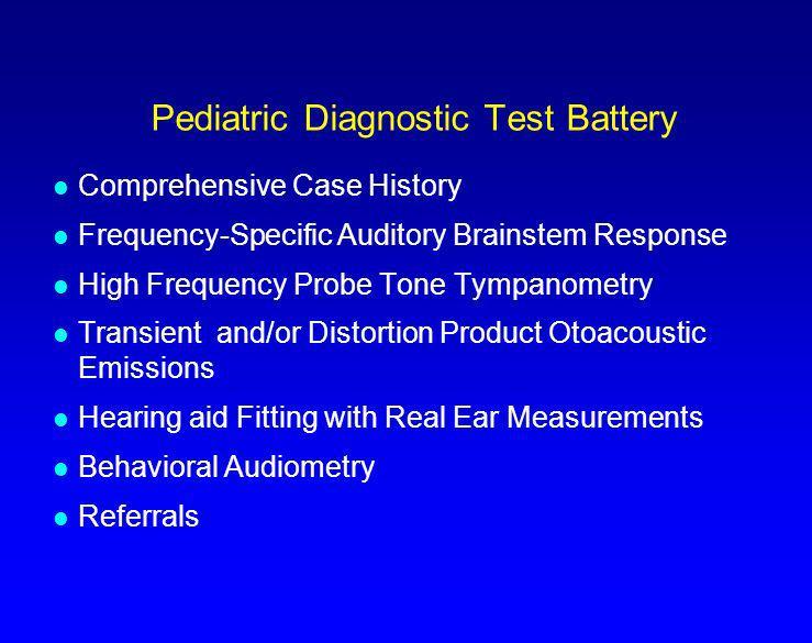 Pediatric Diagnostic Test Battery