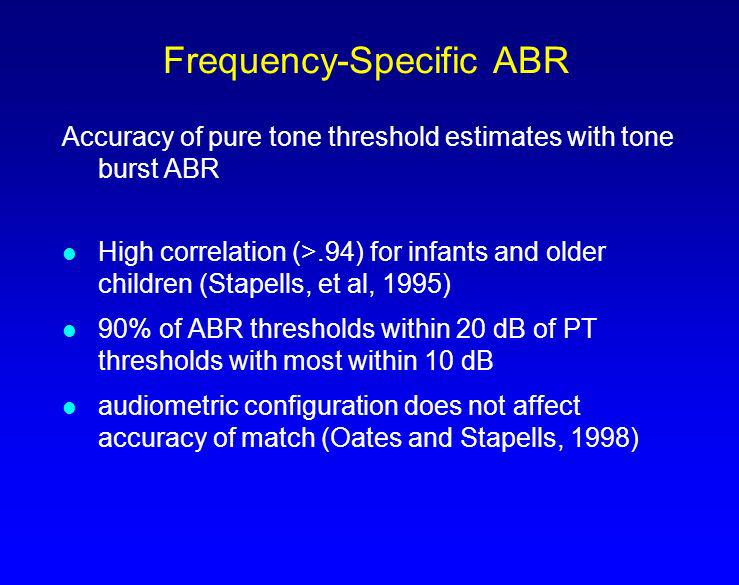 Frequency-Specific ABR
