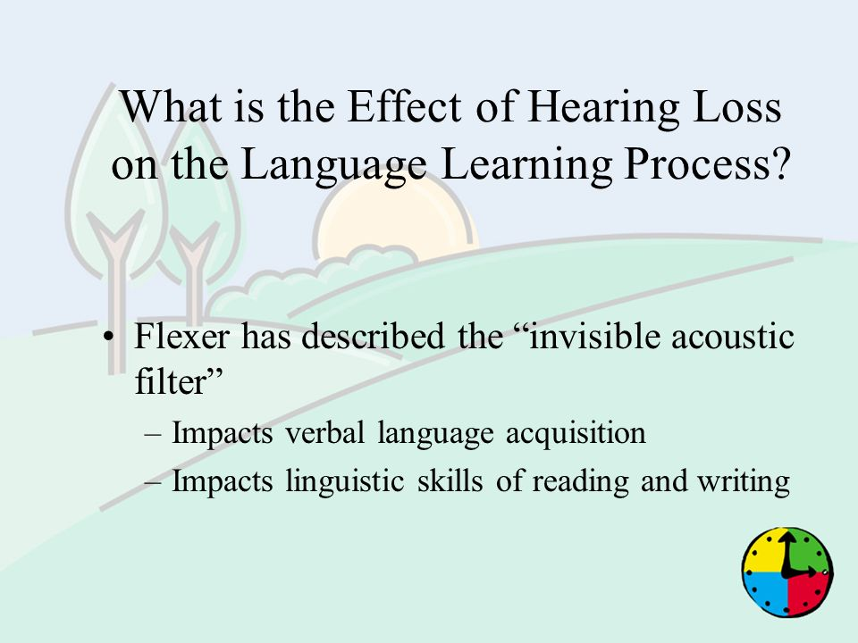 What is the Effect of Hearing Loss on the Language Learning Process