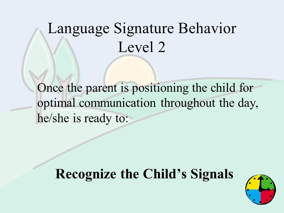 Language Signature Behavior Level 2