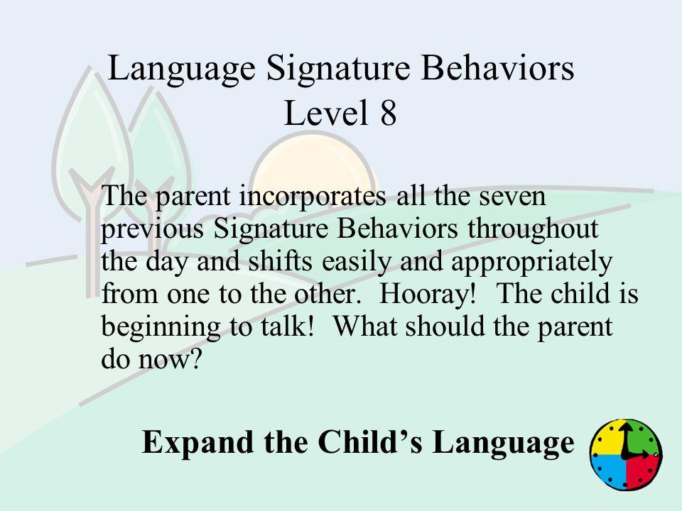 Language Signature Behaviors Level 8