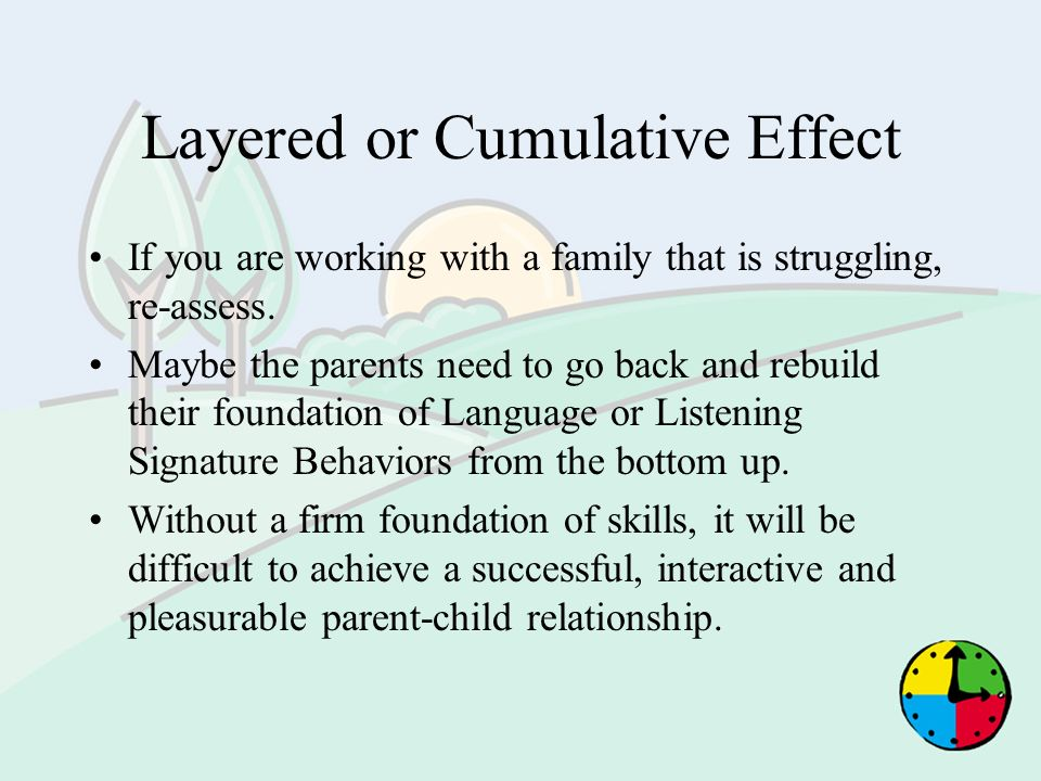 Layered or Cumulative Effect