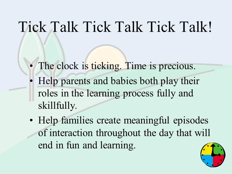 Tick Talk Tick Talk Tick Talk!