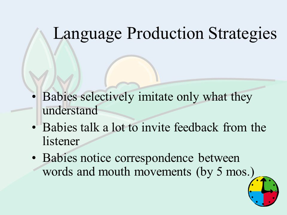 Language Production Strategies