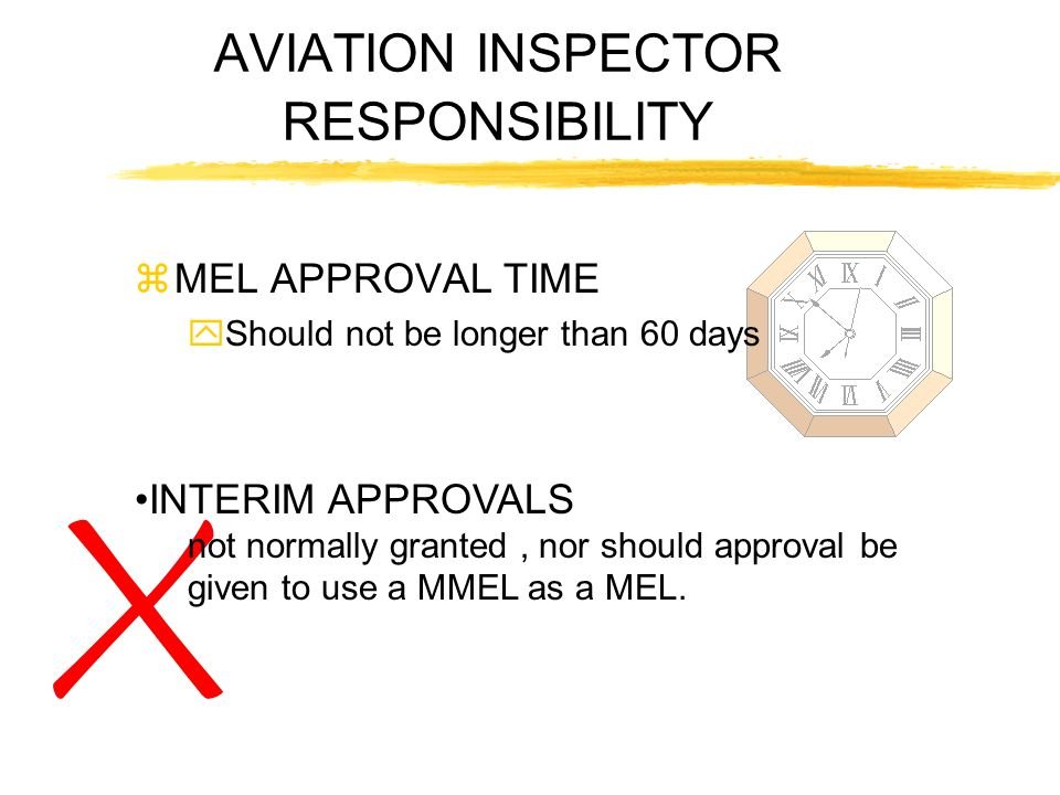 AVIATION INSPECTOR RESPONSIBILITY