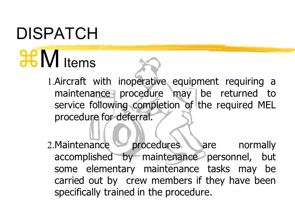 DISPATCH M Items.