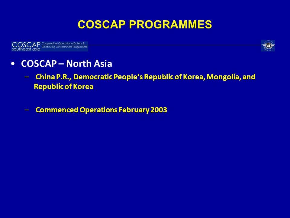 COSCAP PROGRAMMES COSCAP – North Asia
