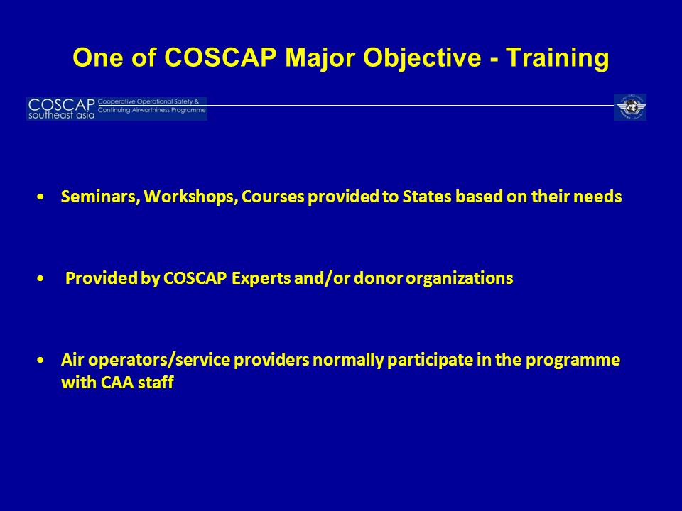 One of COSCAP Major Objective - Training