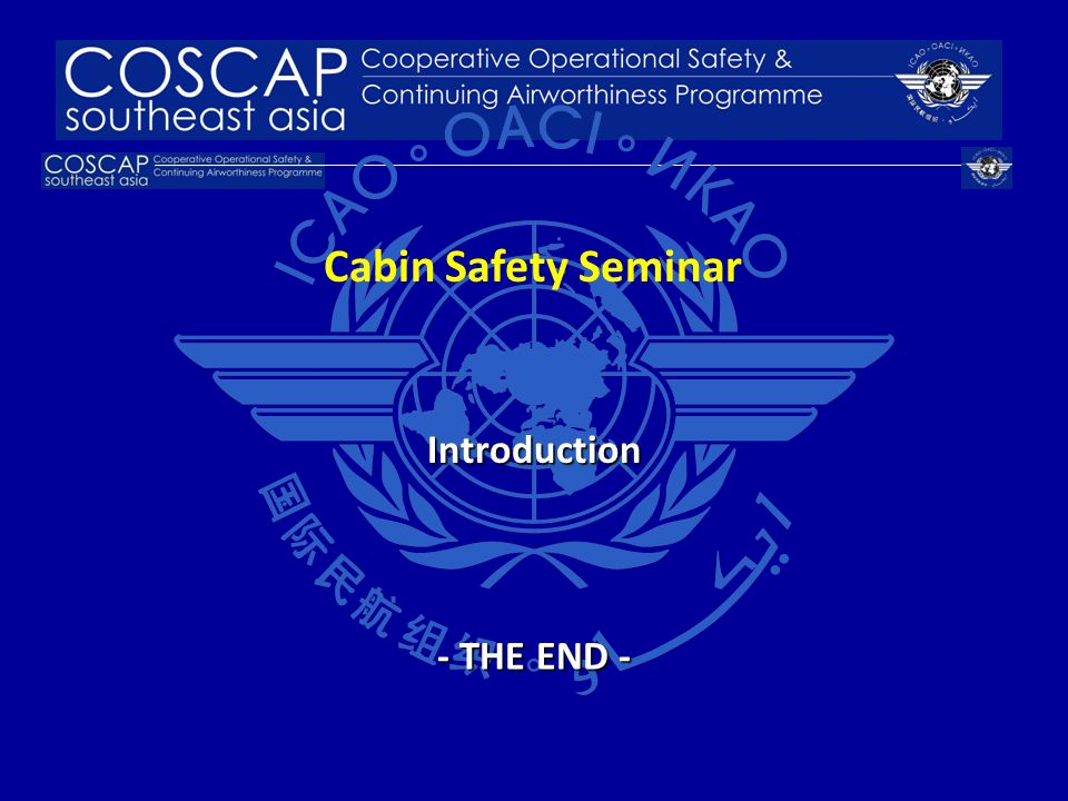 Cabin Safety Seminar Introduction - THE END - 20