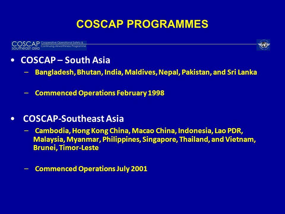 COSCAP PROGRAMMES COSCAP – South Asia COSCAP-Southeast Asia