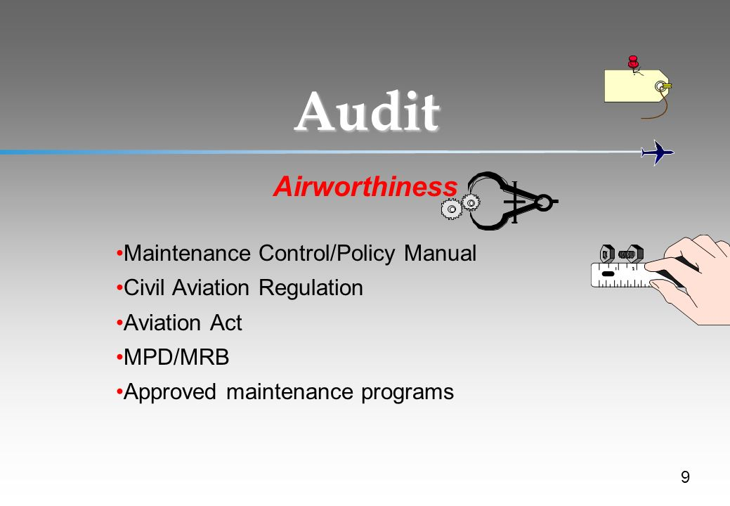 Audit Airworthiness Maintenance Control/Policy Manual