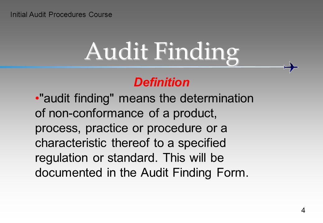 Audit Finding Definition