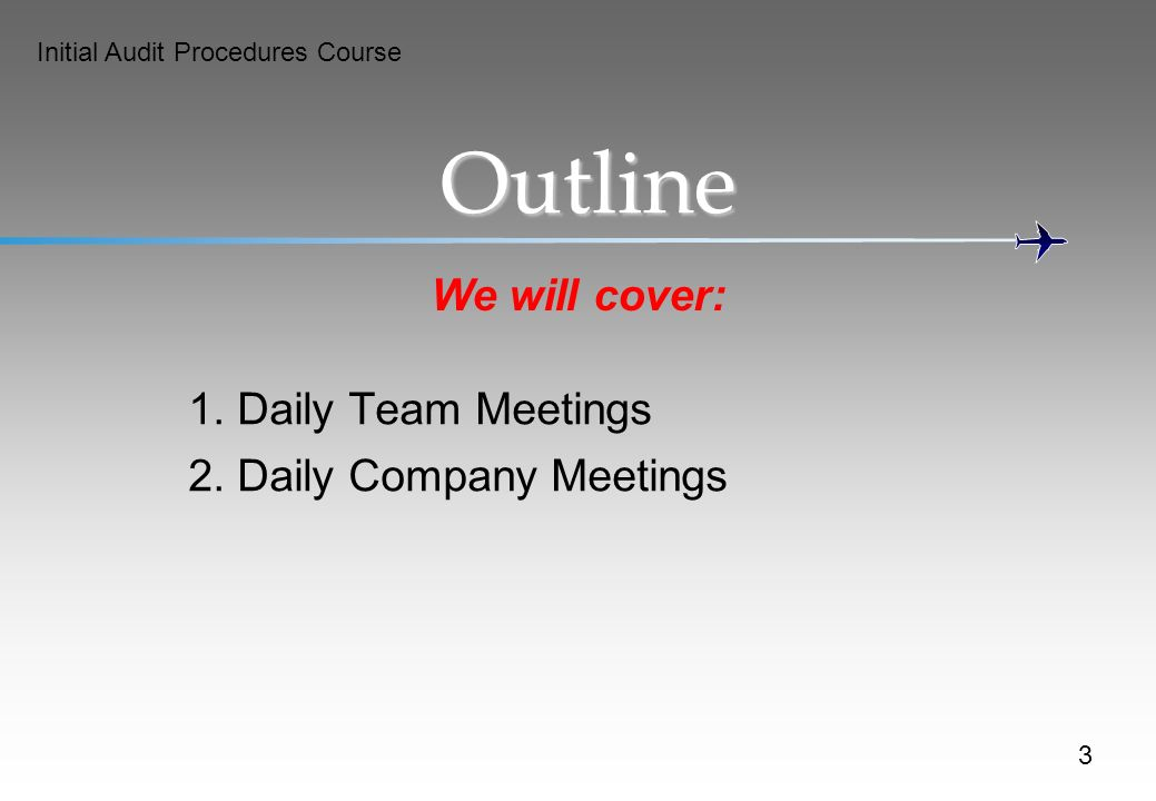 Outline We will cover: 1. Daily Team Meetings
