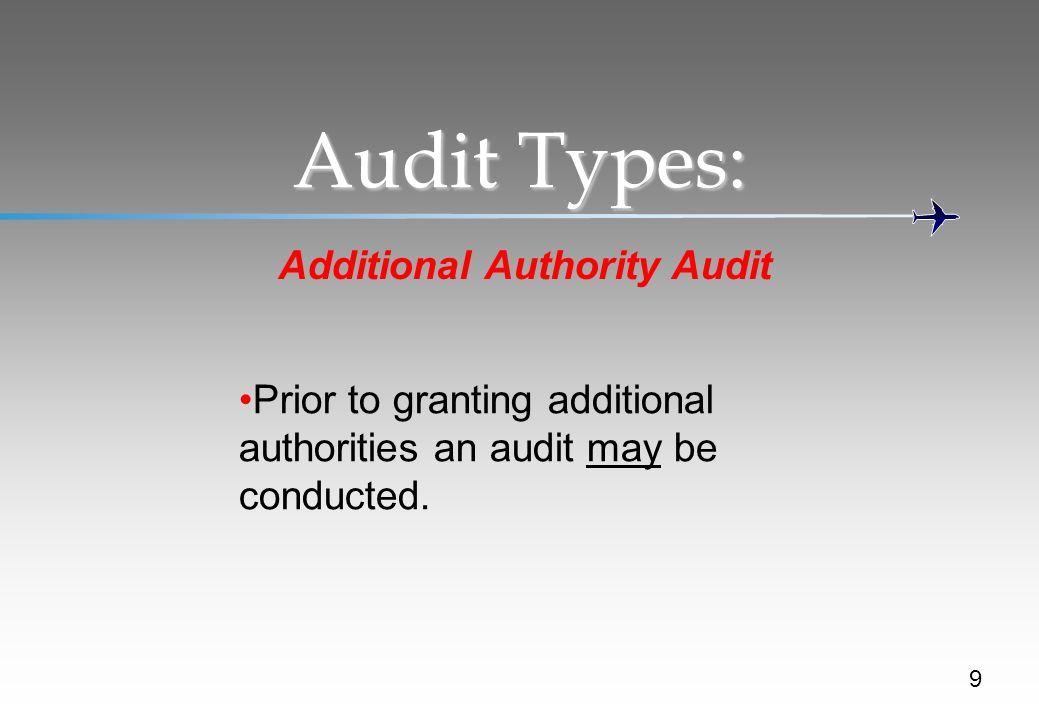 Additional Authority Audit