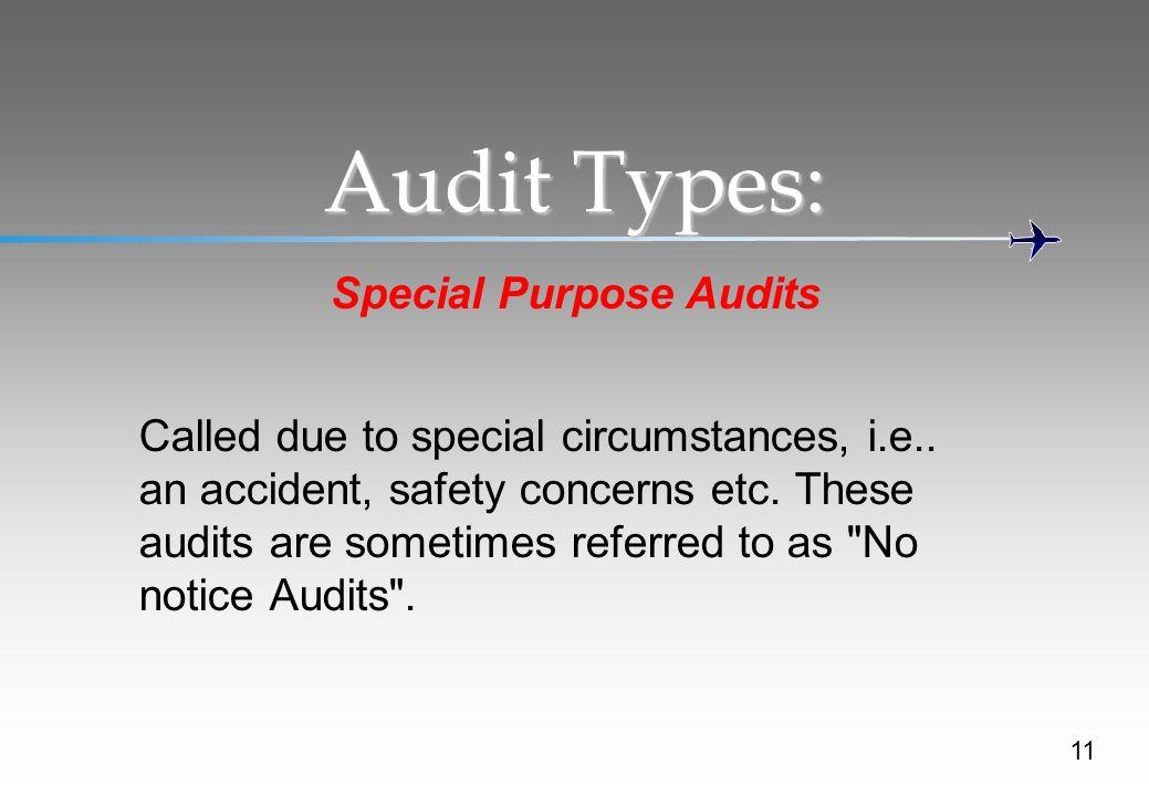 Special Purpose Audits