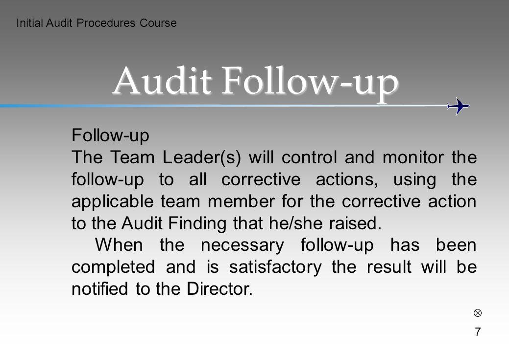 Audit Follow-up Follow-up