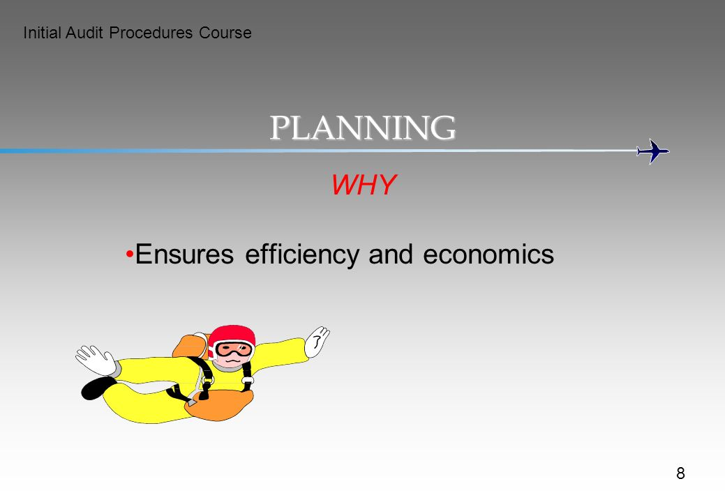 PLANNING WHY Ensures efficiency and economics