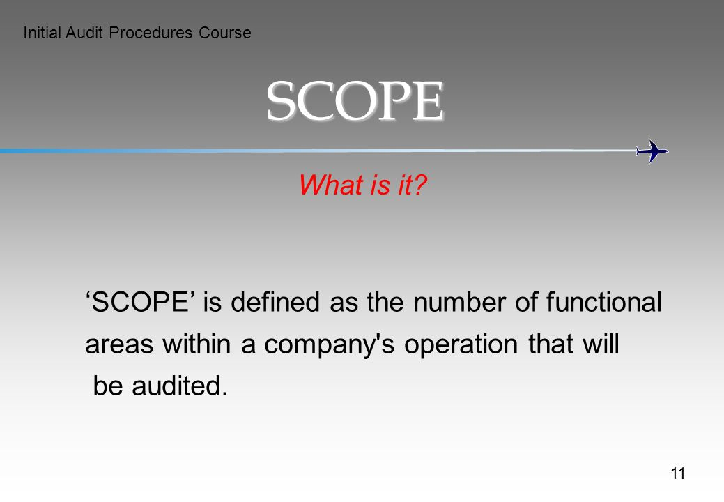 SCOPE What is it 'SCOPE' is defined as the number of functional