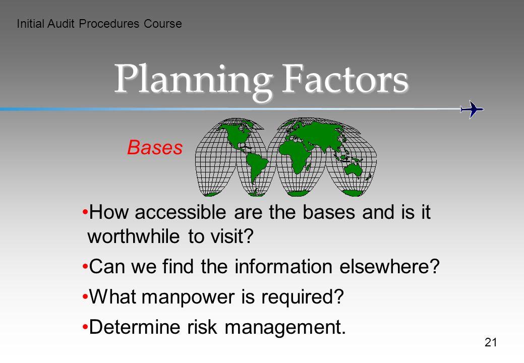 Planning Factors Bases