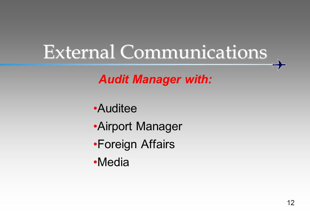 External Communications